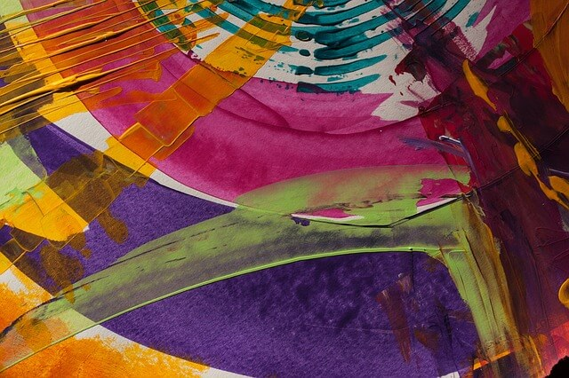 Kolorowy obraz przedstawiający abstrakcję