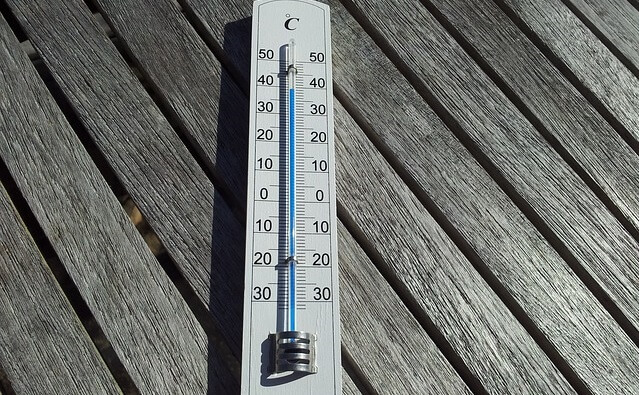 Termometr wskazujący wysoką temperturę