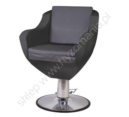 Fotel fryzjerski w kolorze szaro-czarnym