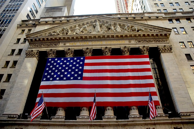 Nowy Jork flaga na budynku