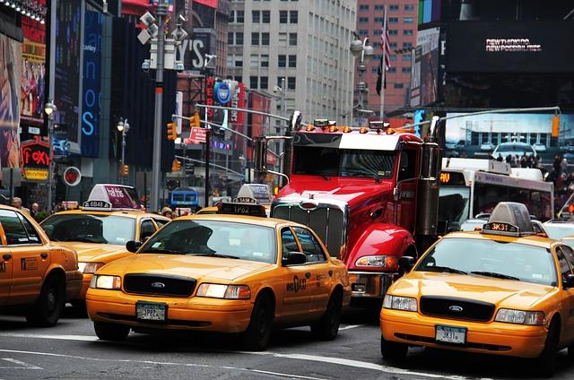 Samochody na Times Square