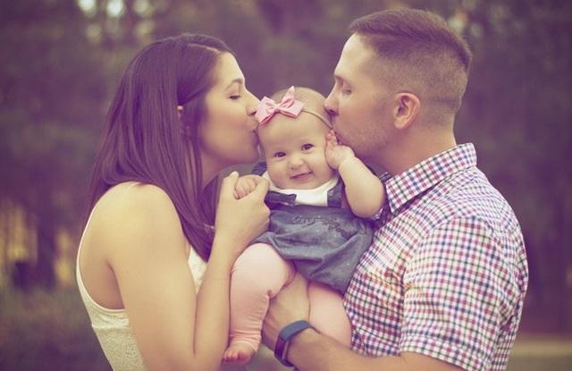 Trzyosobowa rodzina