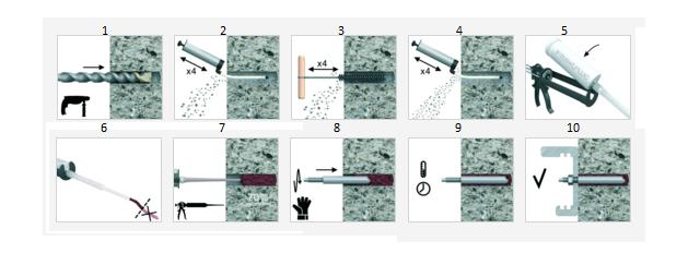 Instrukcja aplikacji kotew wklejanych